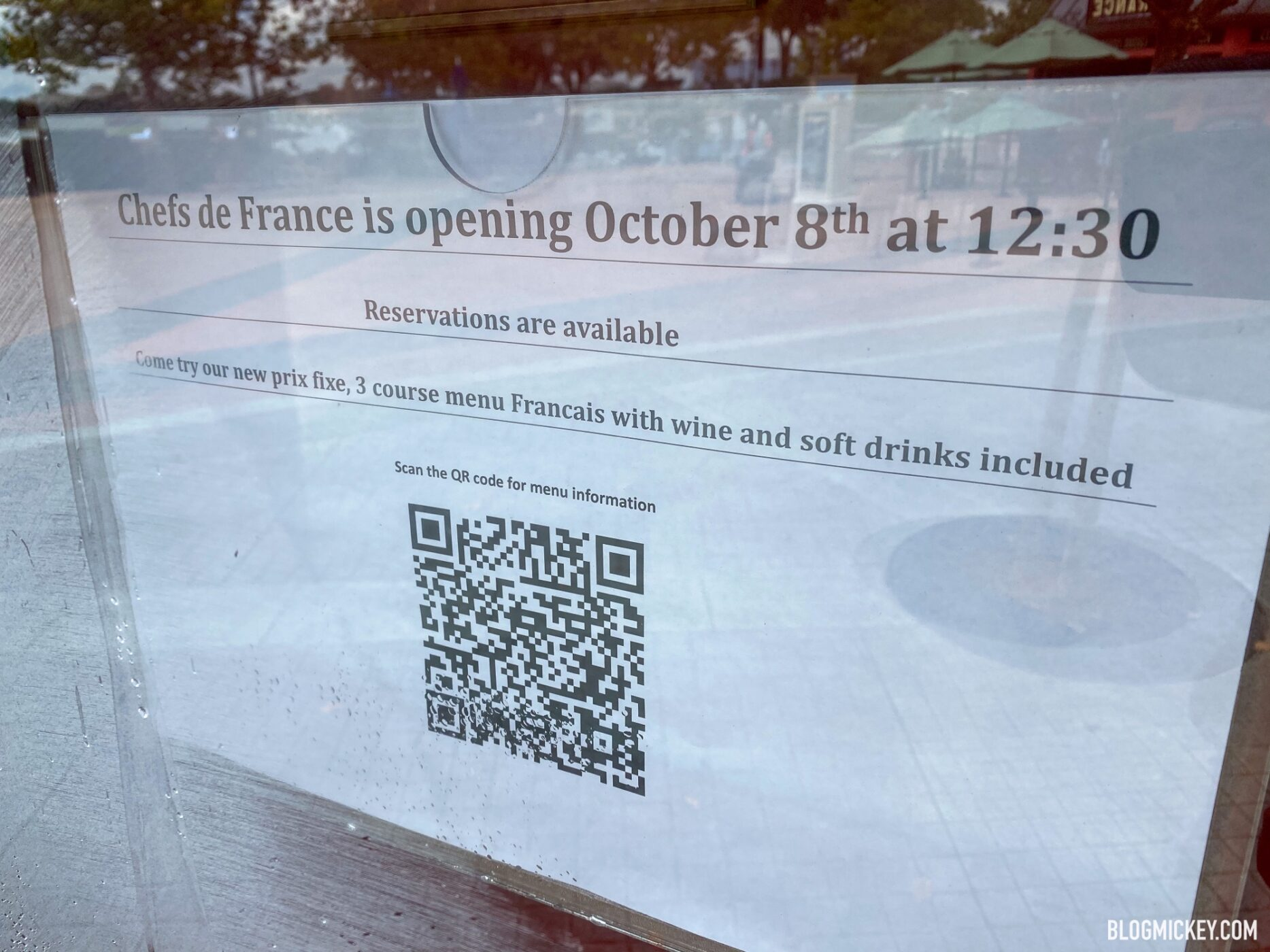 Chefs De France To Offer New Prix Fixe Menu Upon Reopening October 8th At Epcot