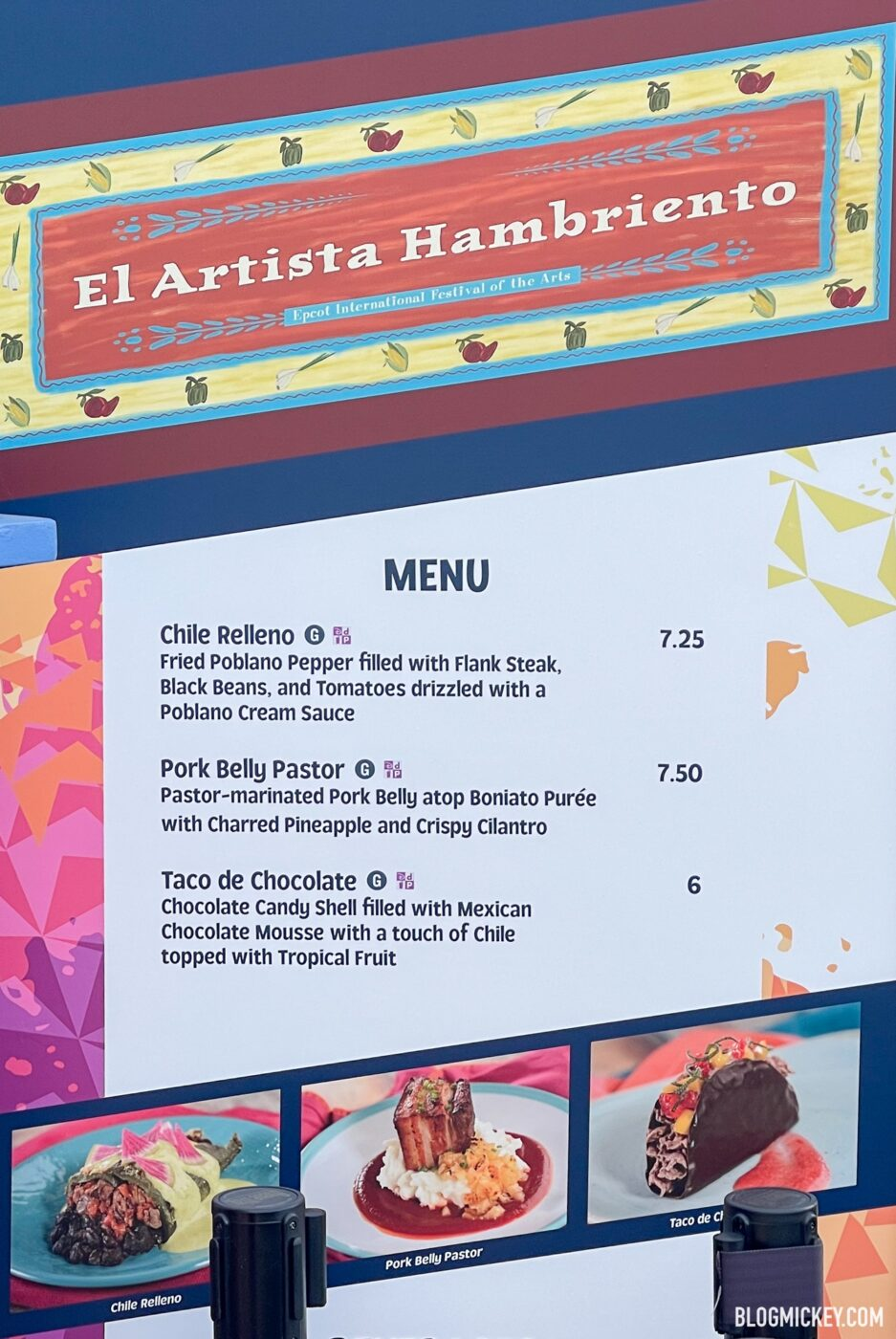 2021 Taste of EPCOT Festival of the Arts Food Prices